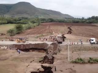 В Сети появилось видео трещины, раскалывающей Африку надвое