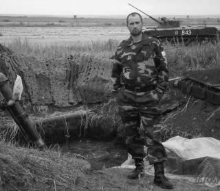 Гвардейцы на защите Луганского аэропорта