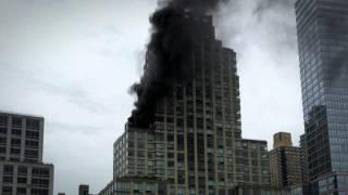 На пожаре в небоскребе президента США погиб мужчина