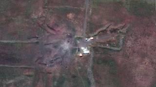 Опубликованы фото последствий авиаудара по Сирии