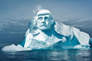 Финские экологи вознамерились высечь бюст Трампа на одном из тающих ледников