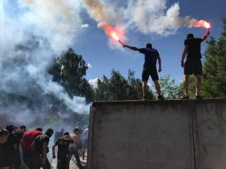 Националисты устроили «пикник» у дома Левочкина в Конча-Заспе