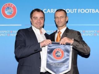 Президент УЕФА поблагодарил главу ФФУ за финал Лиги чемпионов