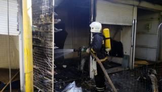 В Одессе горел рынок Привоз