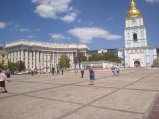 Михайловскую площадь в Киеве наконец-то освободили от парковки