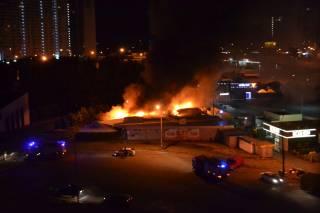 Менее, чем за сутки, в разных районах Киева сгорели несколько торговых киосков