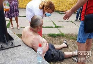 В Кривом Роге участник боевых действий пытался себя сжечь возле стелы героев АТО