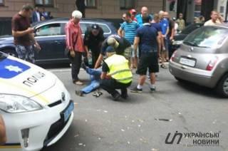 В правительственном квартале еще одного «евробляхера» сбила машина