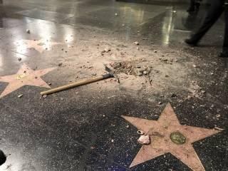 На Аллее славы в Голливуде разбили «звезду» Дональда Трампа