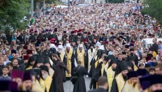 Тысячи православных верующих идут Крестным ходом по центру Киева. Онлайн