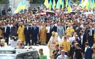 Порошенко решил принять участие в крестном ходе УПЦ КП. Онлайн
