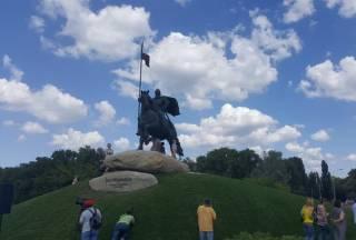 В Киеве открыли гигантский памятник Илье Муромцу