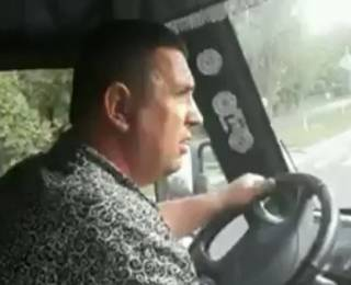 Под Киевом озверевший водитель маршрутки напал на инвалида АТО. Опубликовано видео