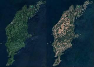 Опубликованы фотографии изнывающей от небывалой жары Швеции из космоса