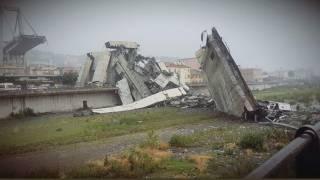 В Италии обрушился автомобильный мост. Погибли десятки человек, под завалами оказались легковушки и грузовики