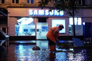 После мощной ночной грозы Киев снова «утонул»