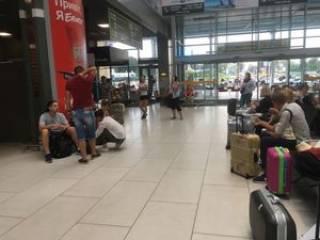 Из-за непогоды в столичном аэропорту массово отменяют рейсы