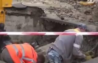 В центре Киева случился грандиозный прорыв асфальта