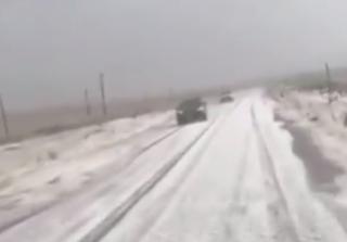 В Турции внезапно выпал снег