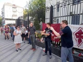 В Киеве тоже прошла «церемония прощания» с Захарченко