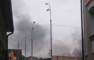 На одном из киевских заводов вспыхнул пожар