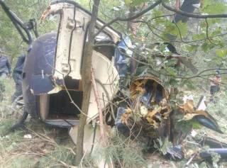 На Трухановом острове в Киеве разбился частный вертолет