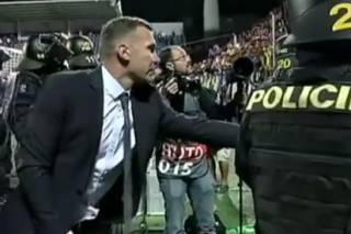 Шева заступился за украинских фанатов, которых после победы нашей сборной избивала чешская полиция
