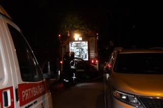 В Киеве бомжи подожгли здание исполнительной службы
