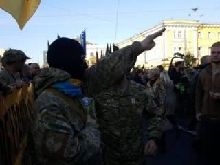 «Марш УПА» показали с высоты птичьего полета, а в Лавре поймали провокаторов
