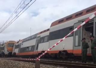 Крушение поезда в Марокко: погибли люди, сотня пострадавших