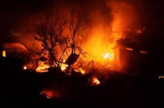 На набережной Одессы бушевал грандиозный пожар. Появилось видео