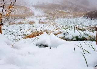 В Крыму выпал осенний снег