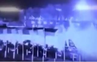 Появилось видео крушения вертолета в Лестере