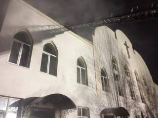 В Николаеве горел баптистский храм