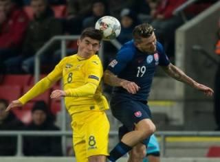 Лига наций: Украина разгромно проиграла Словакии