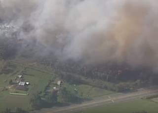 В Австралии вспыхнул гигантский лесной пожар