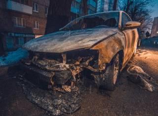 Ночью в Киеве сожгли автомобиль российского посольства