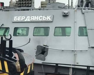 В Сети появилось первое фото поврежденного россиянами украинского катера