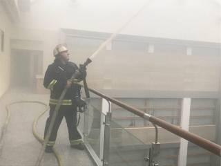 ГСЧС опубликовала фото пожара в Министерстве финансов Украины