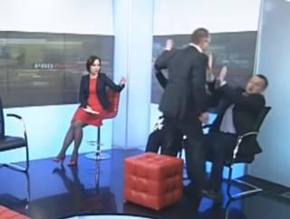 На телеканале «Рада» подрались нардепы Барна и Левченко