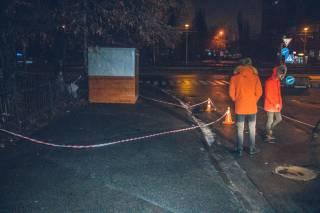 В Киеве стреляли в студентов, а против девушки применили газ
