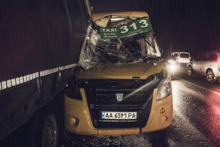 Под Киевом произошло кровавое ДТП с участием маршрутки