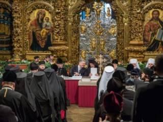 На «объединительном соборе» избрали главу «автокефальной украинской церкви»