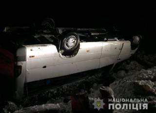 В Волынской области на скорости перевернулась переполненная маршрутка