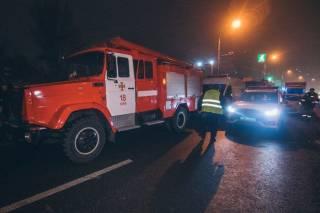 В киевском спальнике сгорел фешенебельный ресторан
