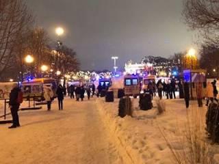 В Москве обрушился мост с людьми во время исполнения гимна России