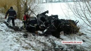 Полиция опубликовала видео жуткого ДТП на Николаевщине, унесшего жизни 8 человек