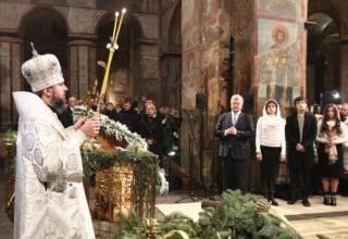 Глава ПЦУ помянул во время службы и в присутствии Порошенко «российского патриарха Кирилла»
