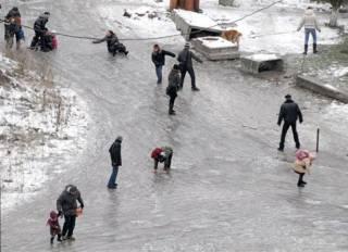 В Киеве подсчитали «жертв гололеда» в рождественские дни