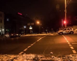 В Киеве такси Uber врезалось в полицейское авто